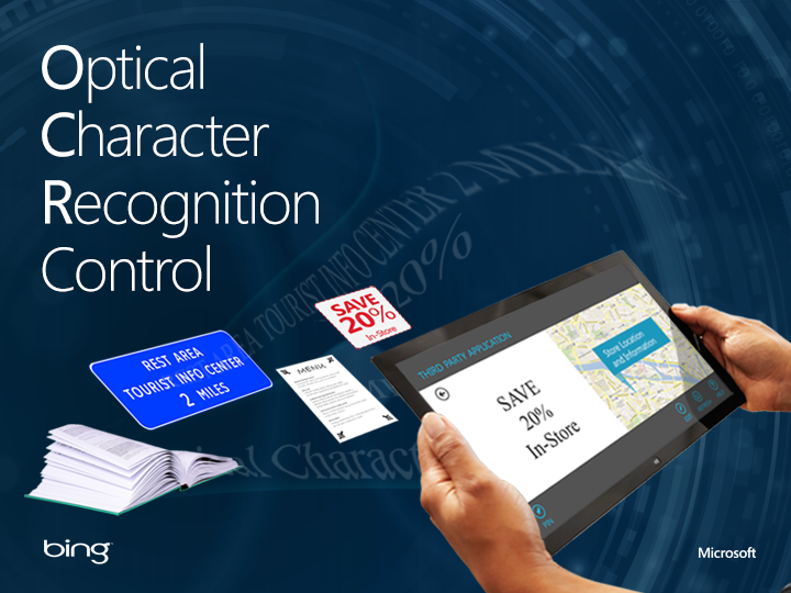 Optical Character Recognition OCR Control