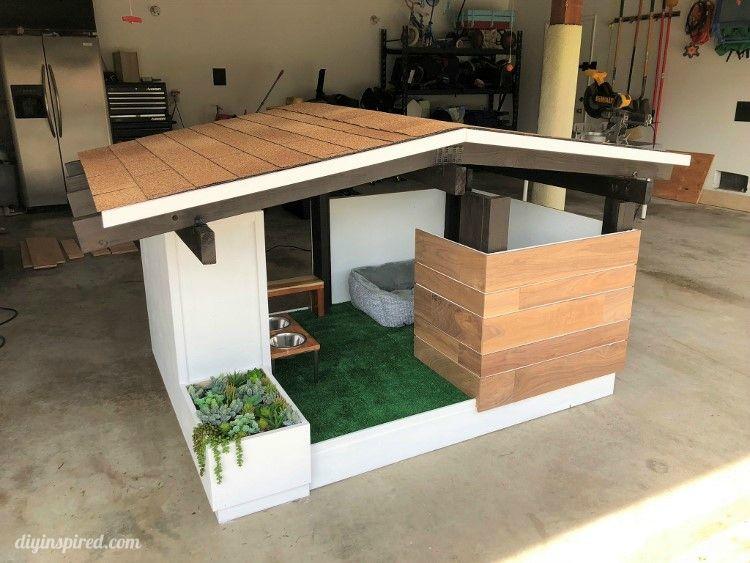 Mid Century Modern Diy Dog House Build Dog House Diy Outdoor Dog House Modern Dog Houses