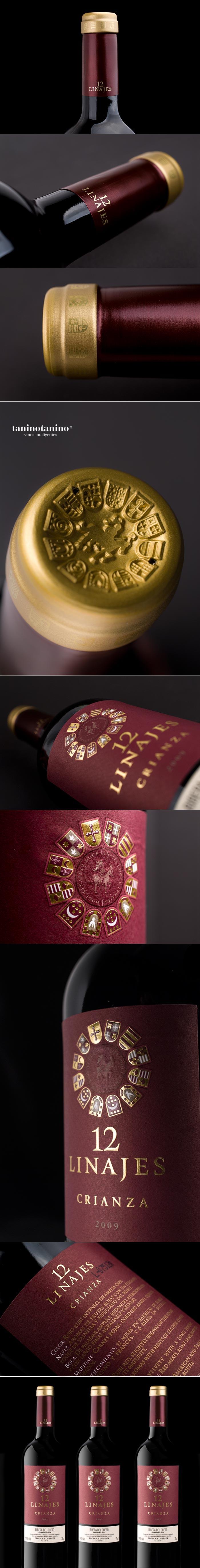 12 LINAJES CRIANZA HISPANO BODEGAS - TANINOTANINO VINOS INTELIGENTES wine / vinho / vino mxm