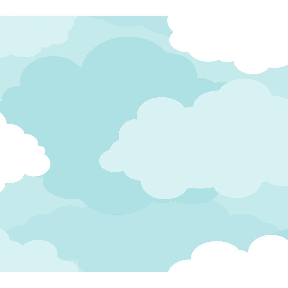 "PeekABoo 27' x 27"" Cloud Wallpaper Cloud wallpaper"