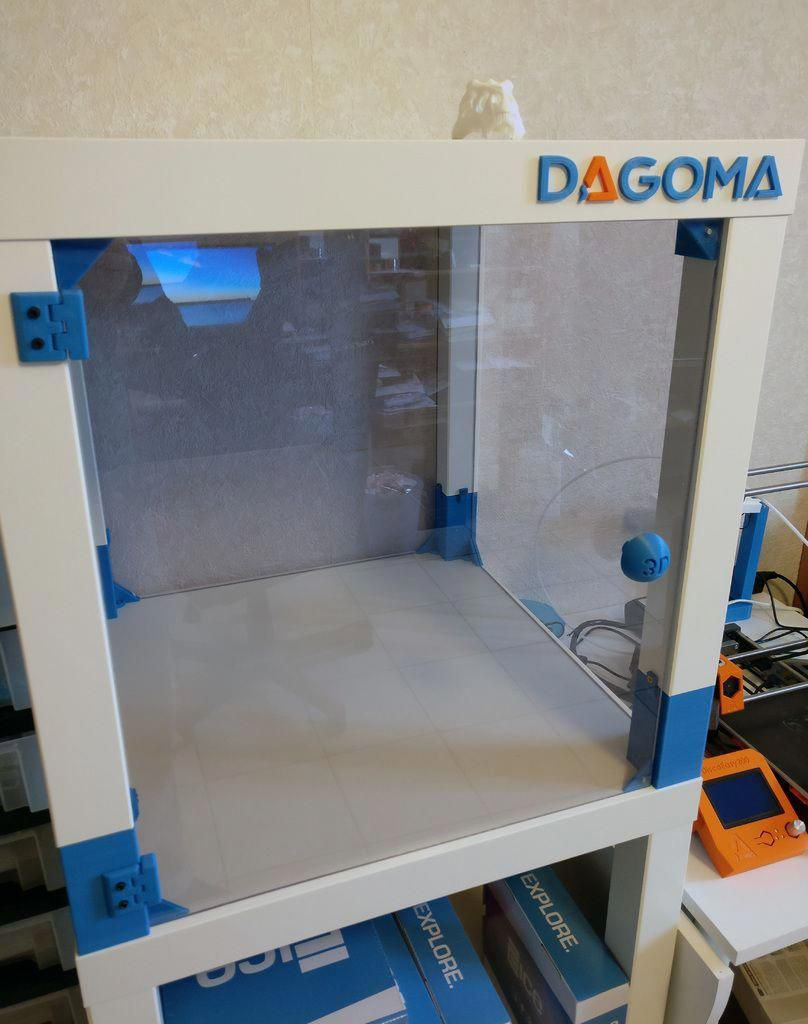 3d Printer Case With Lack Tables Ikea By Shoyun 3dprinting Lack Table 3d Printer Enclosure 3d Printing