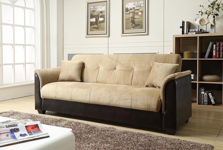 Best Futon Sofa 4) Amazon.com: NHI Express Melanie Futon Sofa Bed ...