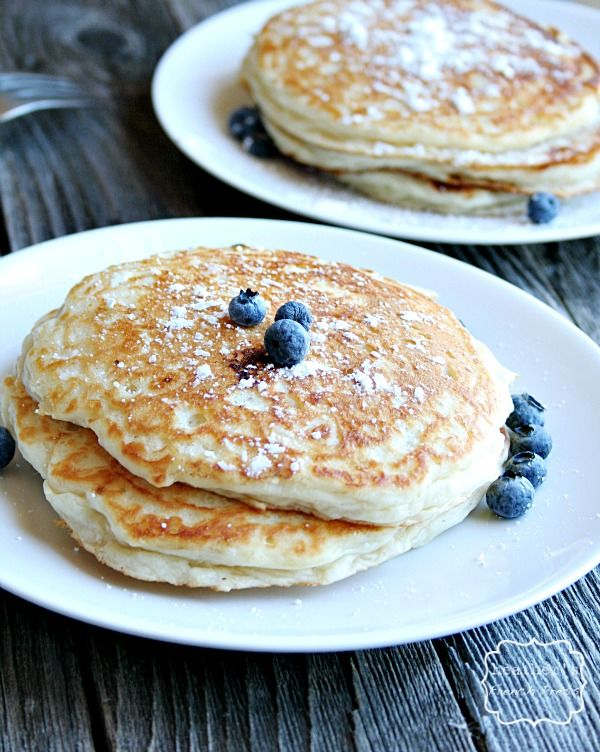 The Best Buttermilk Blueberry Pancakes Using Greek Yogurt Recipe With Images Blueberry Buttermilk Pancakes Blueberry Pancakes Greek Yogurt Pancakes