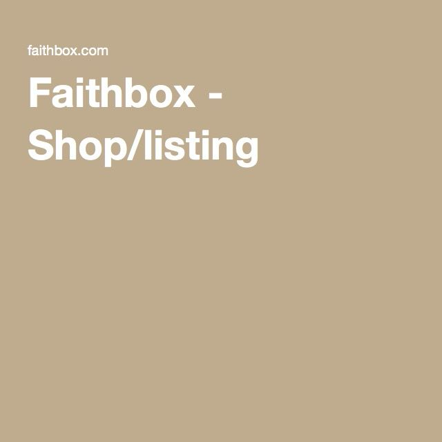 Faithbox - Shop/listing