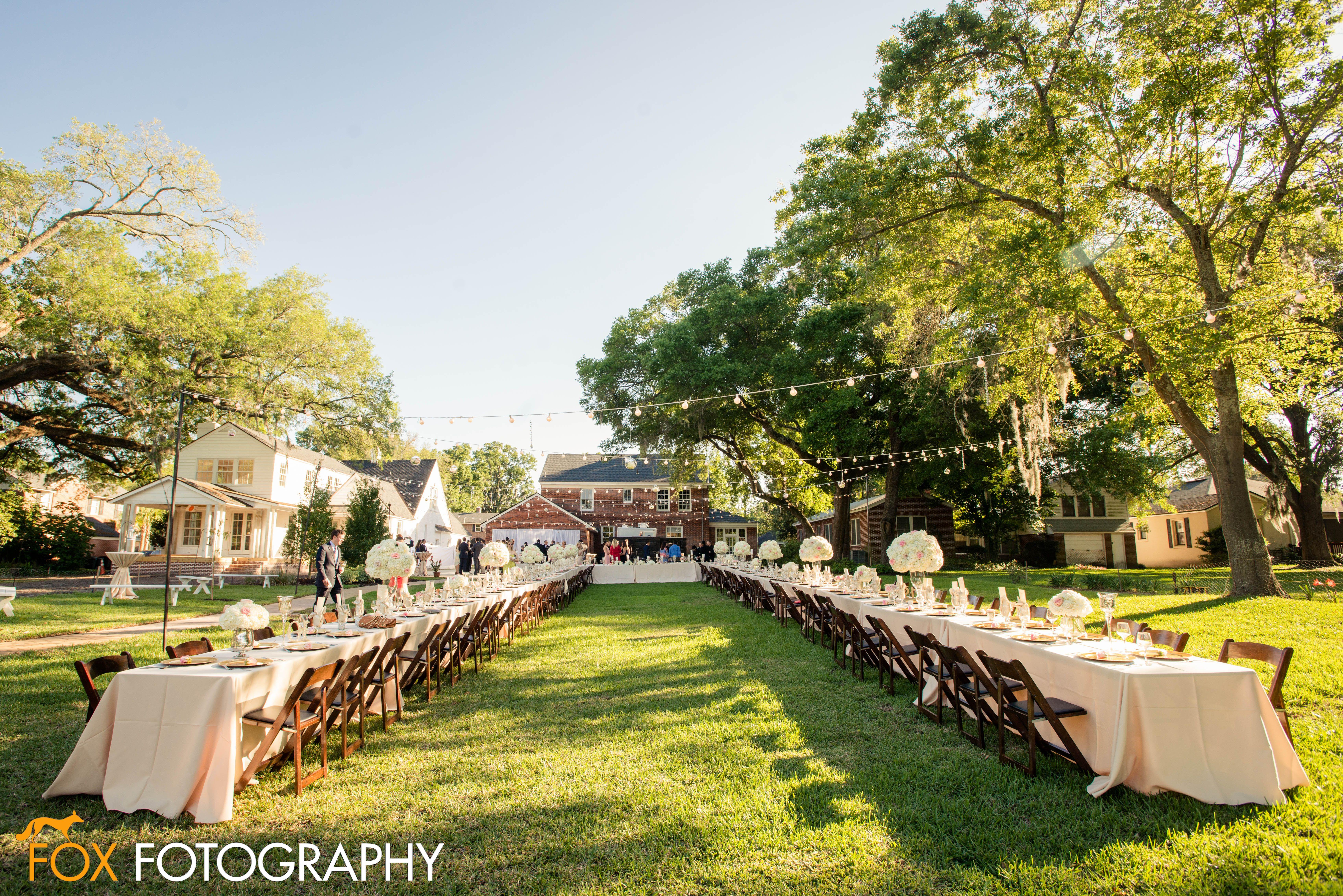Jacksonville beach weddings  Gold u Ivory Backyard Wedding GG Events Fox Fotography Real