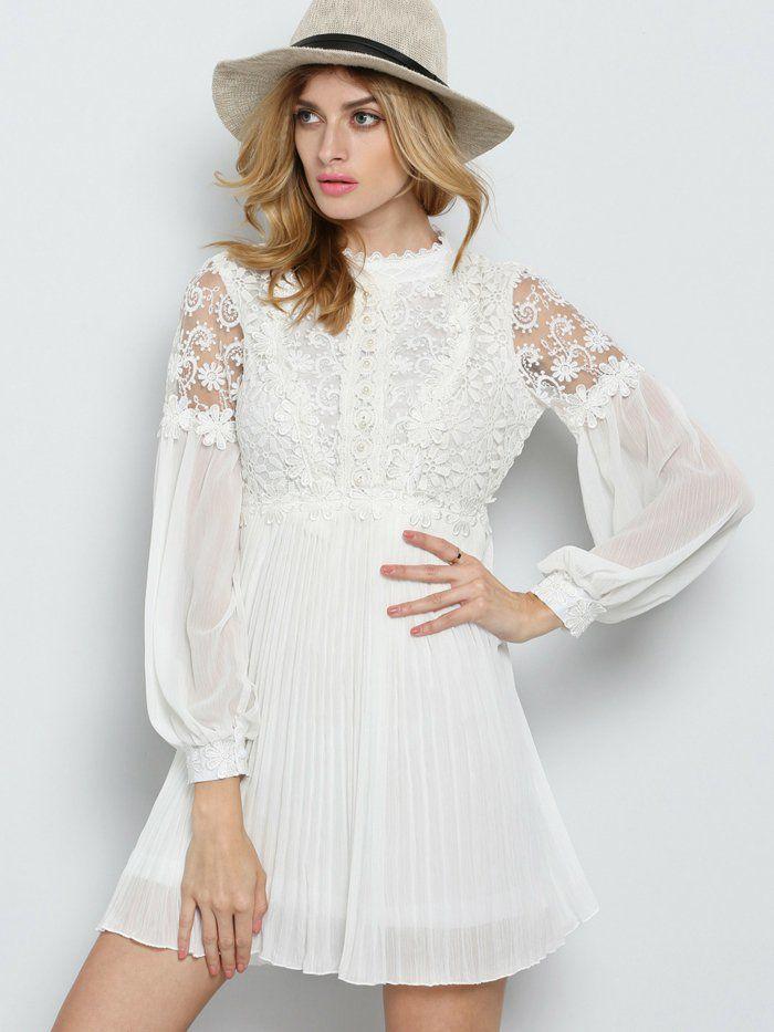 Spitzenkleid in Weiß - der absolute Sommer-Trend! | Hochzeit ...