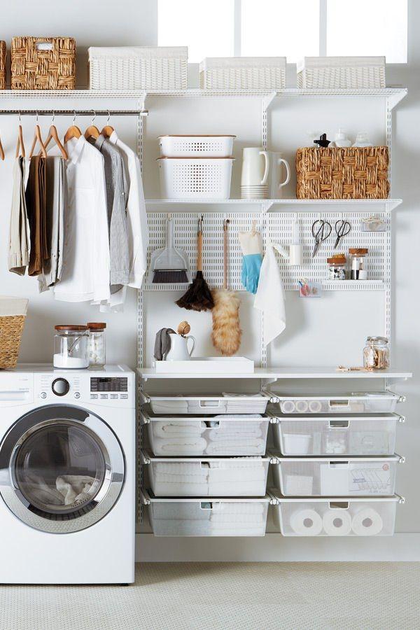 White Elfa Laundry Solution images