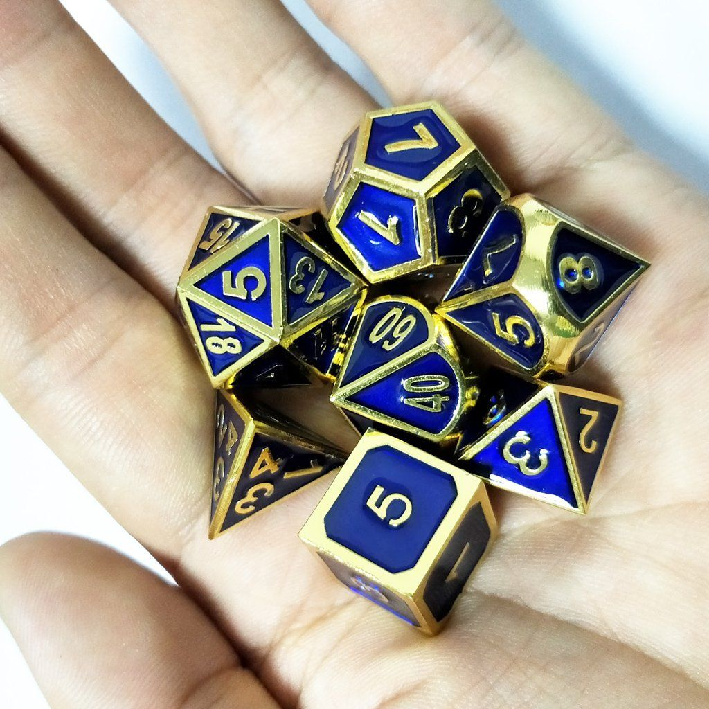 7 Set Polyhedral Dice for Dungeons and Dragons Dice D20 D12 D10 D8 D6 D4 16mm