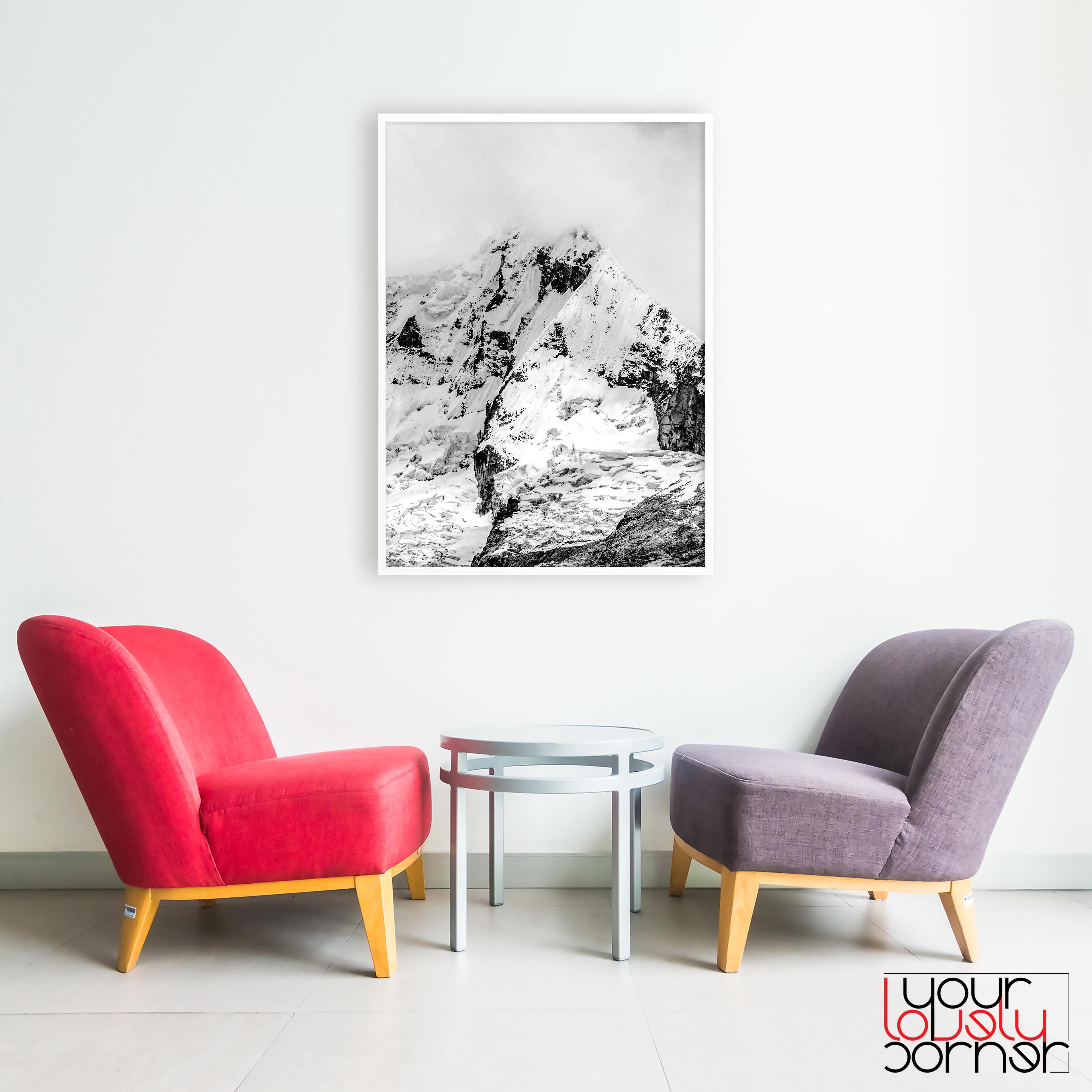 Art U0026 Collectibles, Prints, Digital Prints, Modern Interior Art, Modern  Decor, Minimalist Print, Nature Art Print, Black White Mountain, Rocky  Mountain ...