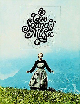 The Sound Of Music 1965 Movie Poster Sound Of Music Movie Musical Movies Sound Of Music