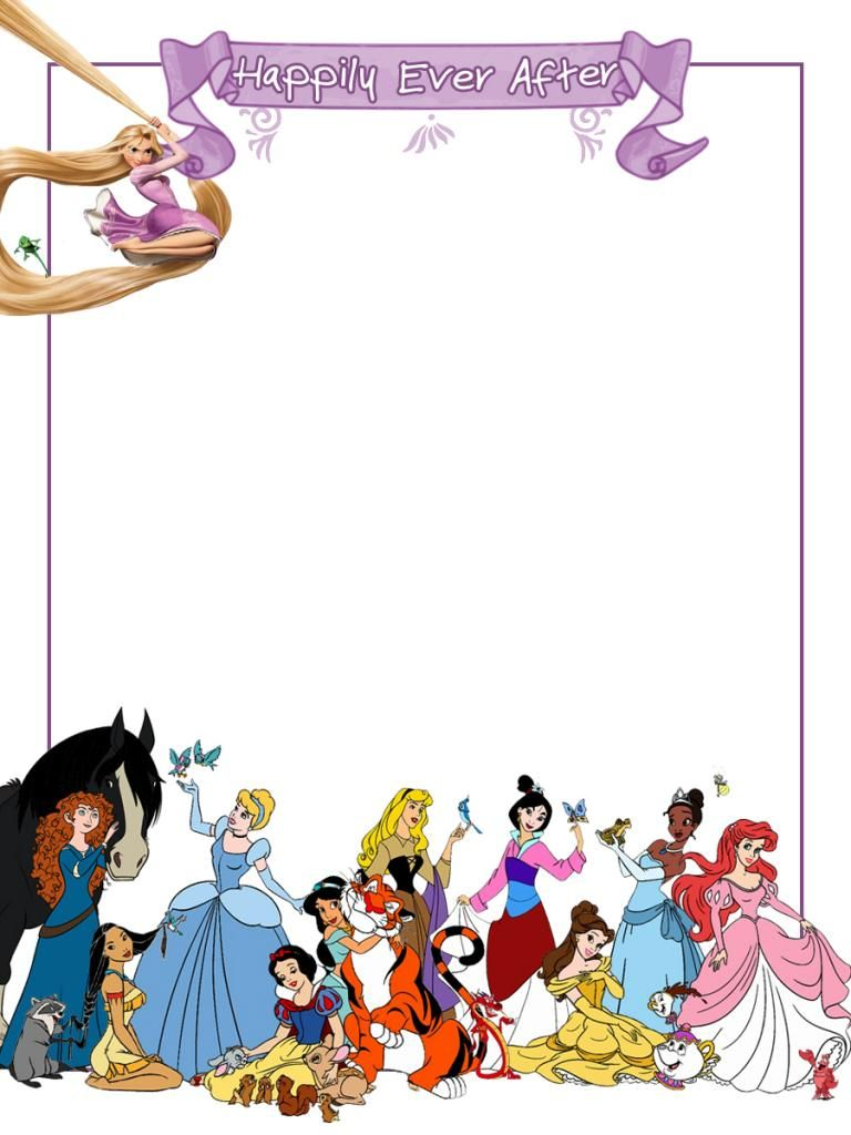 Journal Card - Happily Ever After - Princesses - 3x4 photo ...