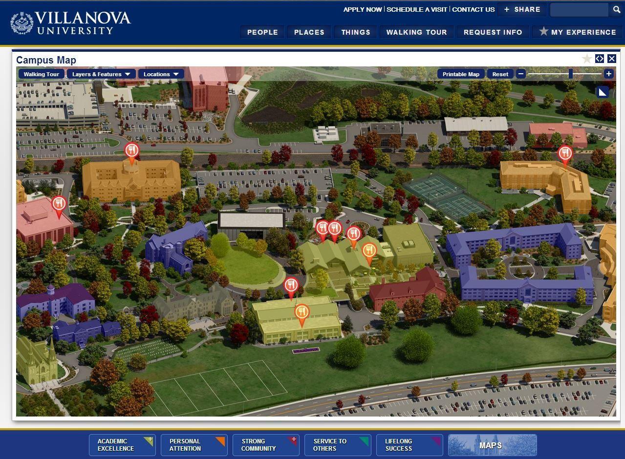 Villanova University Campus Map (Active Layers) | Villanova