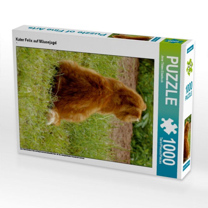 """Foto-Puzzle """"Kater Felix auf Mäusejagd"""", 1000 Teile (64x48 cm)"""