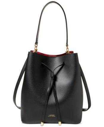 Lauren Ralph Lauren Dryden Debby Leather Drawstring Reviews Handbags Accessories Macy In 2020 Leder Susse Handtaschen Lederhandtaschen