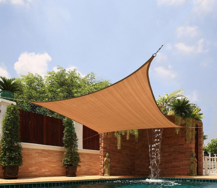 Fabric Sun Shade Square Sail Outdoor Pool Patio Solar Sunscreen Canopy Shelter #FabricSunShade & Fabric Sun Shade Square Sail Outdoor Pool Patio Solar Sunscreen ...