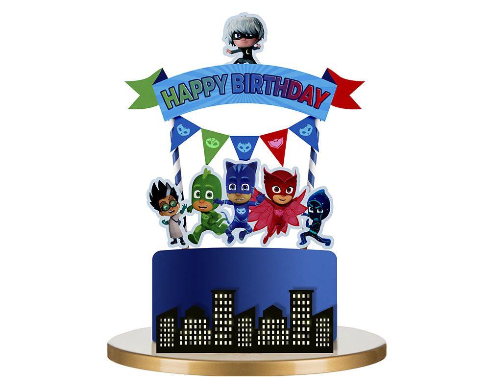 Pj masks cake topper pj masks birthday pj masks party