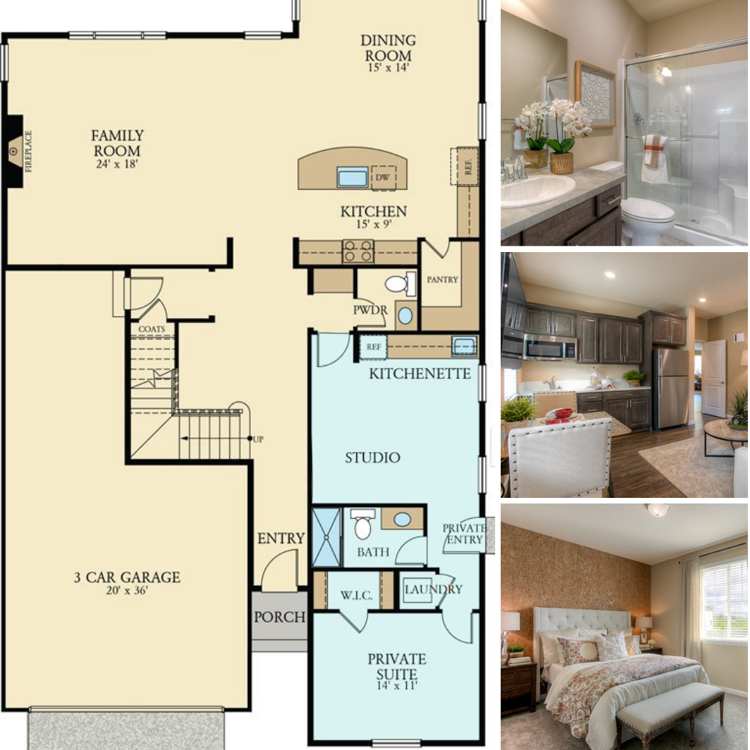 How Would You Utilize This Next Gen Private Suite Small House Plan House Plans New Homes For Sale