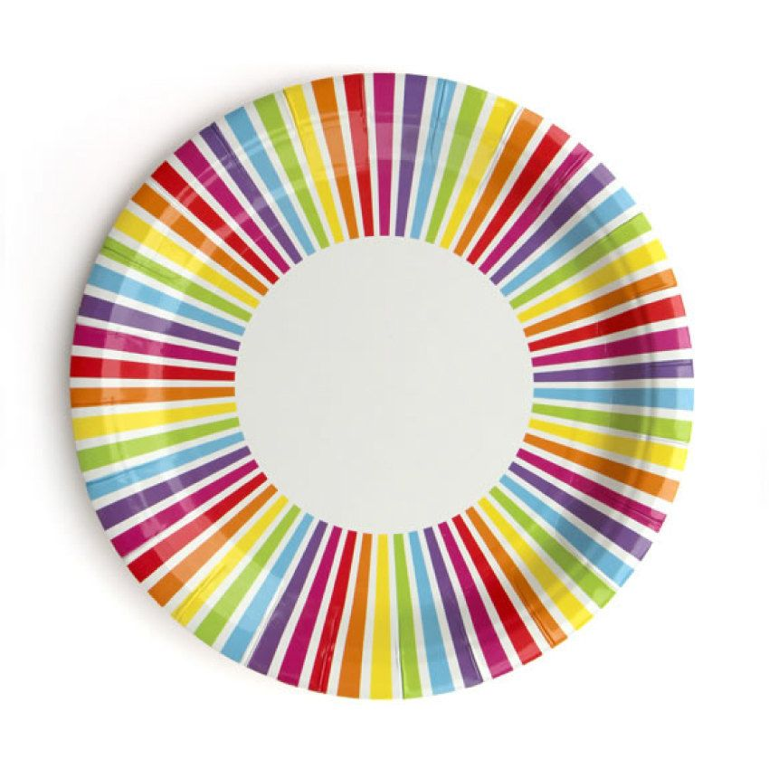 Plates | Rainbow Striped Paper Plates | Rainbow Plates | Rainbow Party | Art Party | Quality Paper Plates | Party Supplies The Party Darling  sc 1 st  Pinterest & Plates | Rainbow Striped Paper Plates | Rainbow Plates | Rainbow ...
