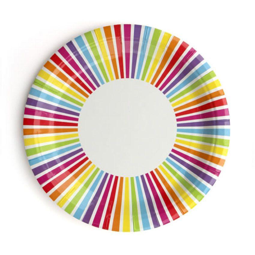 Plates | Rainbow Striped Paper Plates | Rainbow Plates | Rainbow Party | Art Party |  sc 1 st  Pinterest & Plates | Rainbow Striped Paper Plates | Rainbow Plates | Rainbow ...