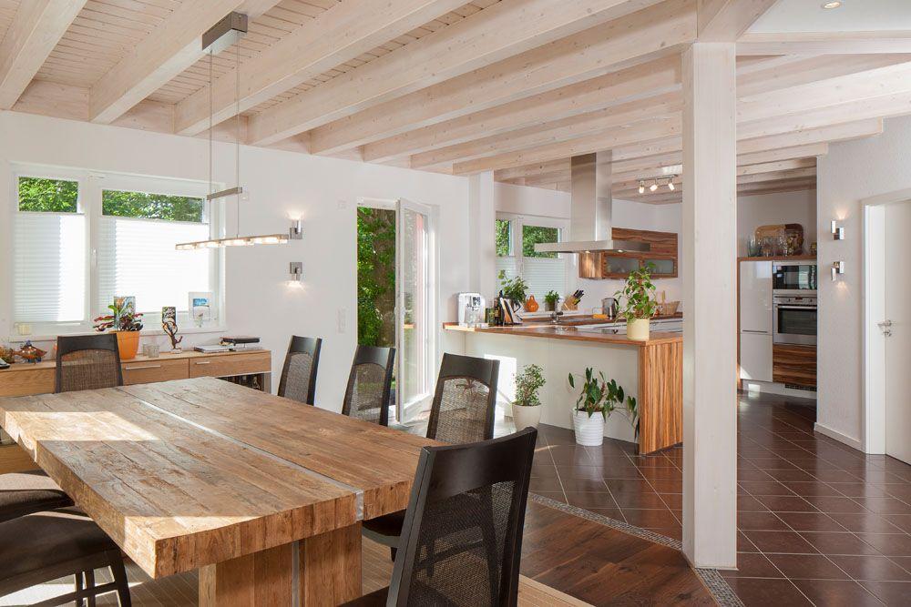 Offene Küche mit Essbereich - Hingucker im Architektenhaus - bilder offene küche