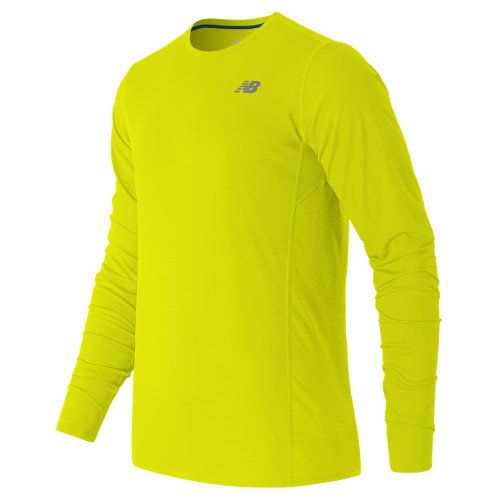 New Balance 53060 Men's Accelerate Long Sleeve - Yellow (MT53060FFY)