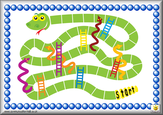 Jeux chelle imprimer avec ou sans num ros ecole for Chutes and ladders board game template