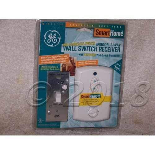 Wall Switch Receiver & Transmitter, Indoor, 3-Way, #RF1023S, G.E.