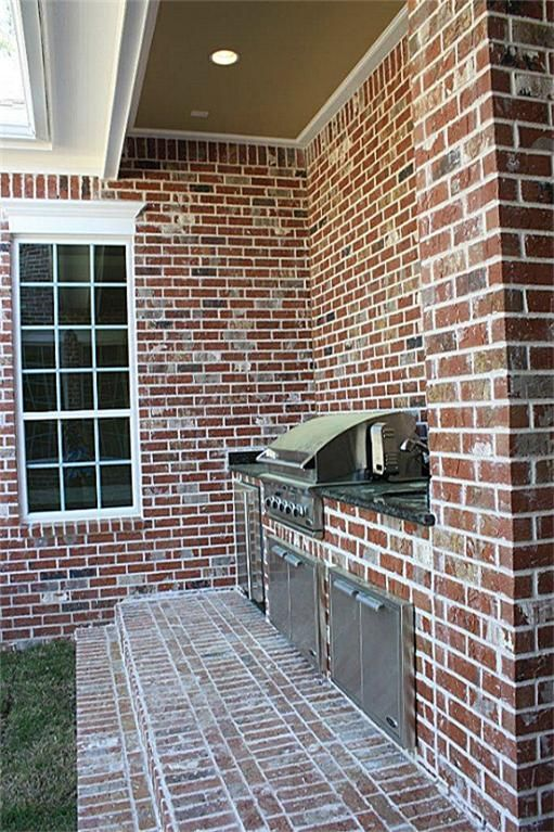 Built In Grill Against House Outdoor Kitchen Patio Outdoor Kitchen Design