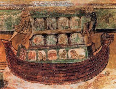 Saint Savin sur Gartempe - Historia de Noe - bóveda