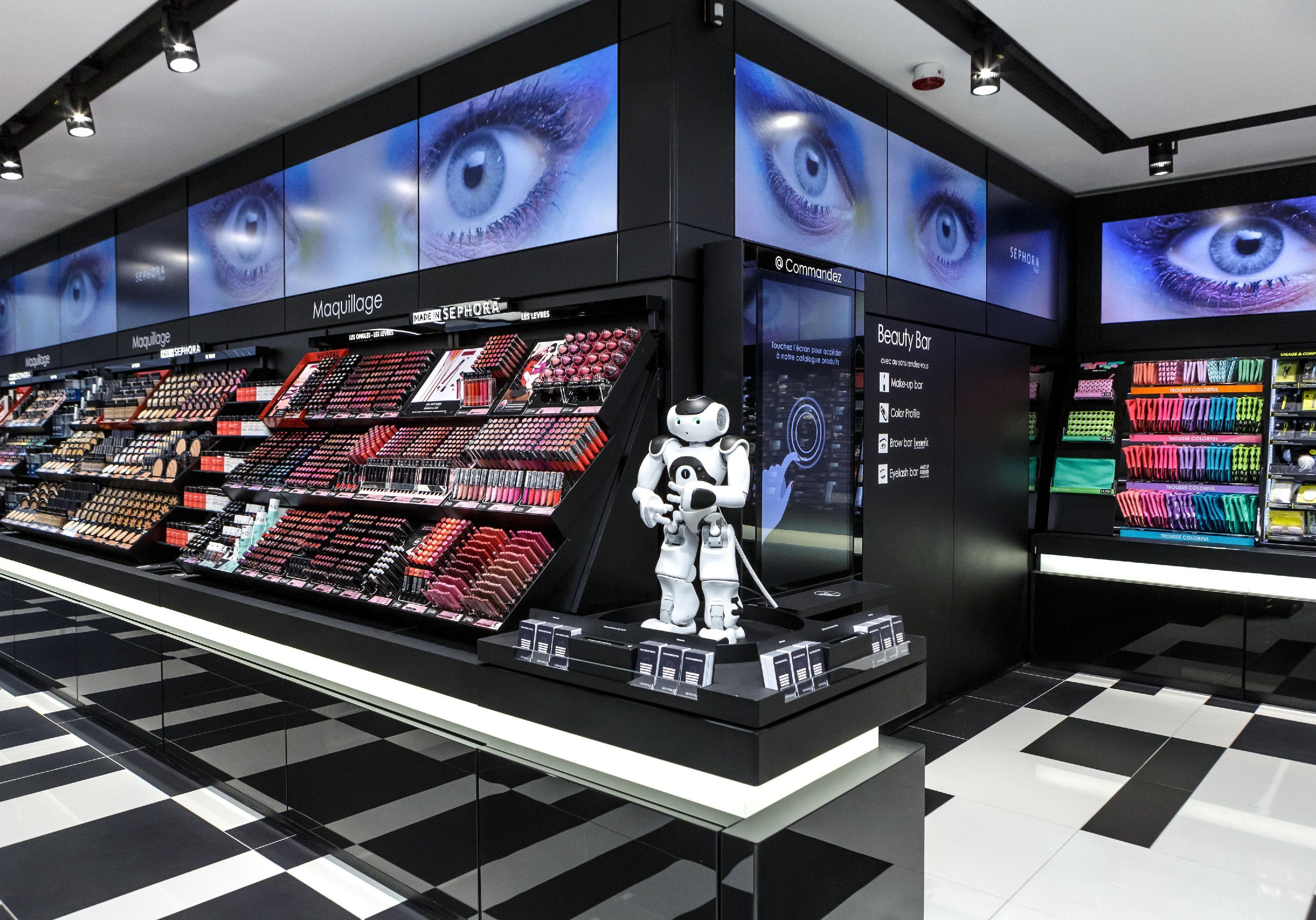 ellebeautyspot la nouvelle boutique connect e sephora flash eye store sephora store design. Black Bedroom Furniture Sets. Home Design Ideas