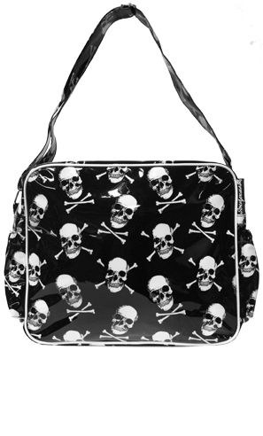 Skull Diaper Bag W Matching Changing Pad Sourpussclothing 34 00