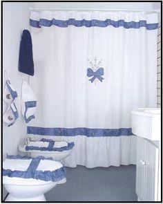 ba47e13b0423 baño craft cortinas para baño cortinas de baño de tela juego | baño ...
