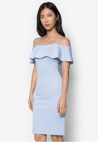 890d9499af1878 Buy ZALORA Collection Off Shoulder Flounce Midi Dress