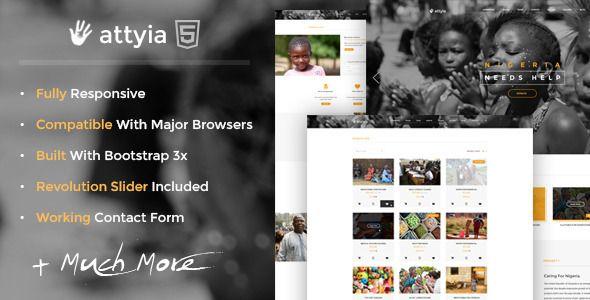 Attyia - Creative NGO and Charity HTML5 Template  Attiya is a - ngo templates