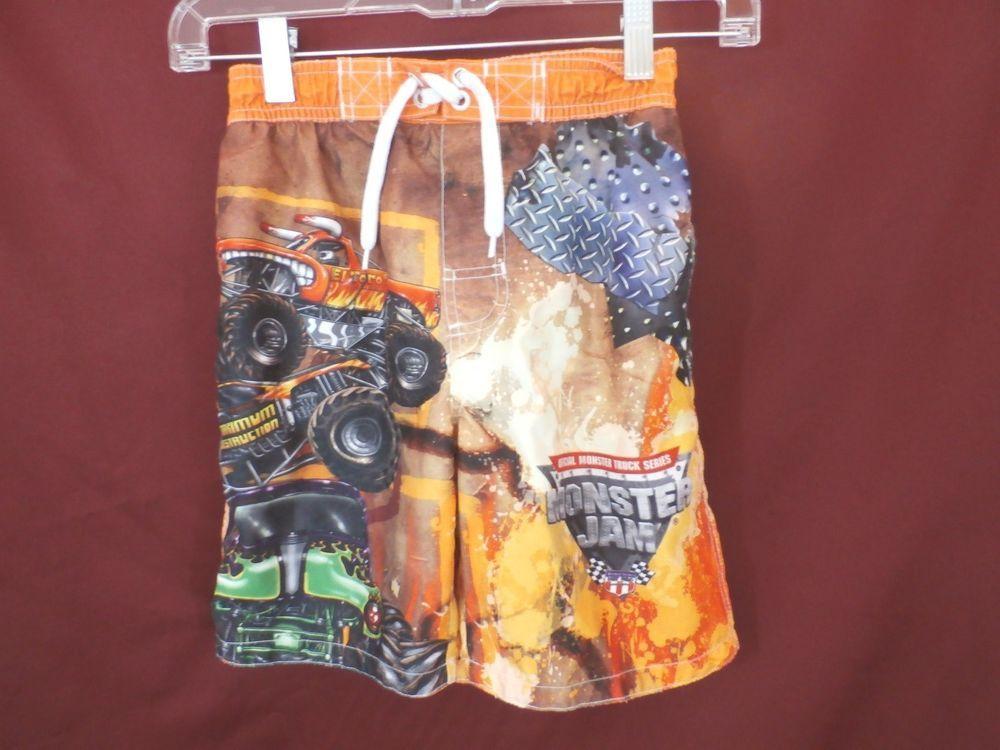 ca51e1a988 MONSTER JAM boys swim trunks size 6/7. Great fabric and design. $19.99  #MonsterJam #SwimShorts