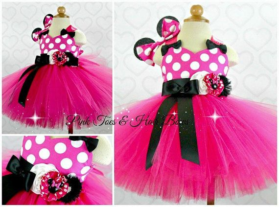 Caliente Minnie ratón vestido rosado del tutú vestido - rosa ...