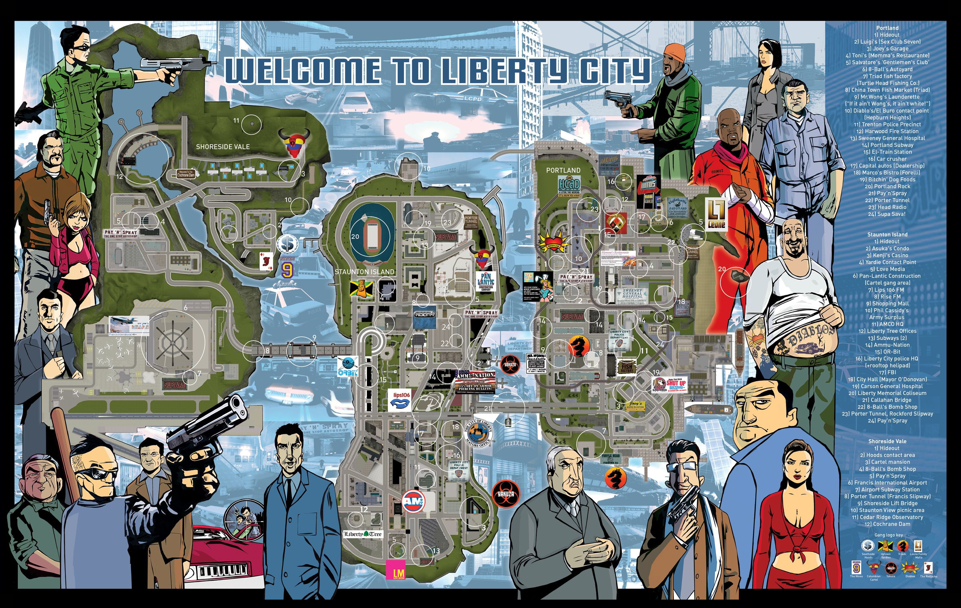 Gta 3 Map Just Because Grand Theft Auto Grand Theft Auto 3 Grand Theft Auto Series