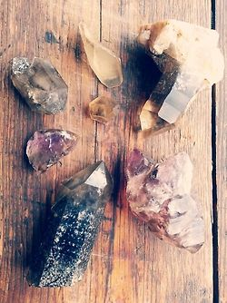 Crystals from the Sierra Nevada Mountains