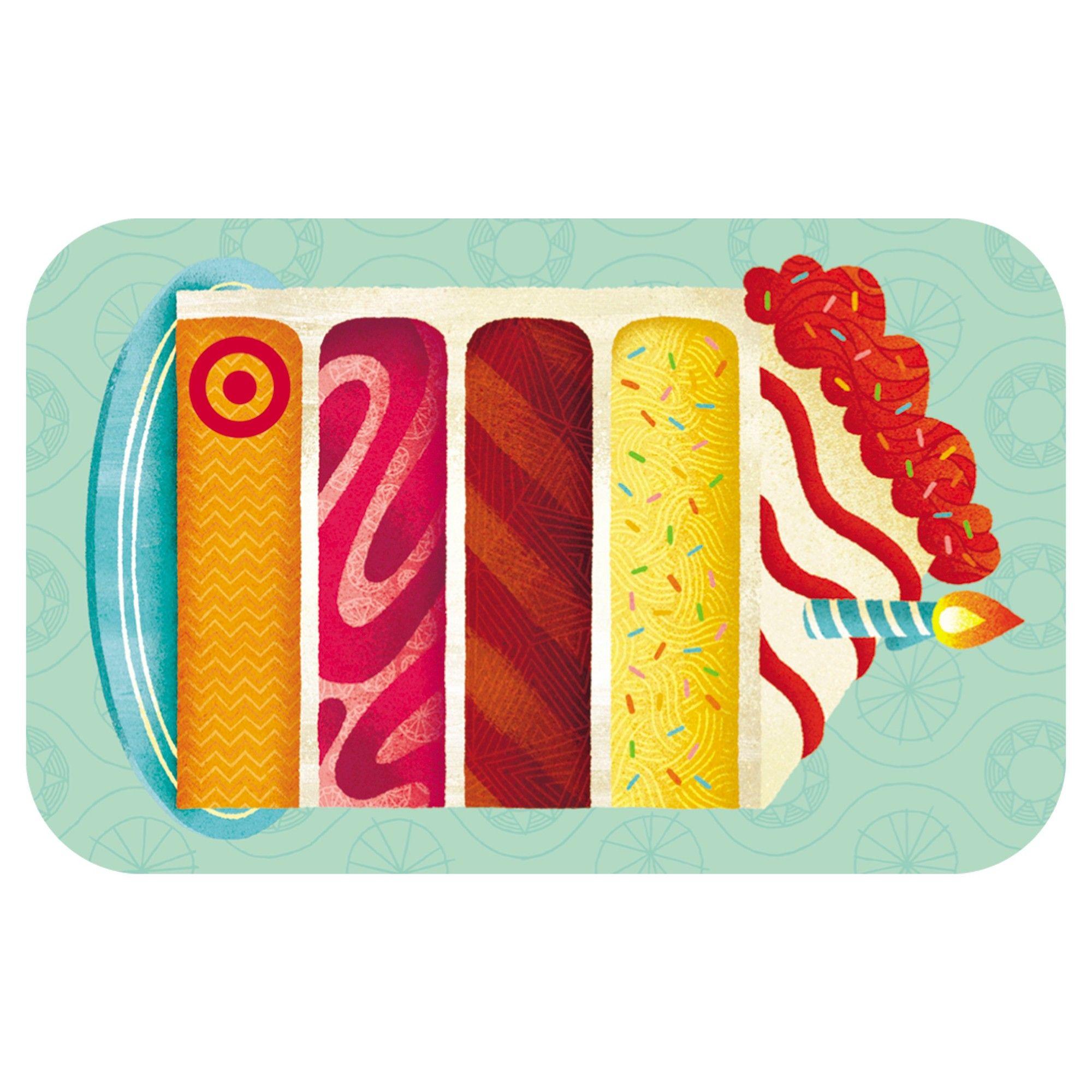 Bday cake slice giftcard 1000 buy birthday cake