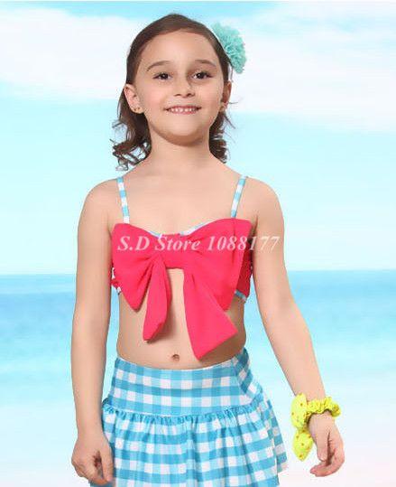 red new 2014 children swimwear girls swimwear swimsuit for