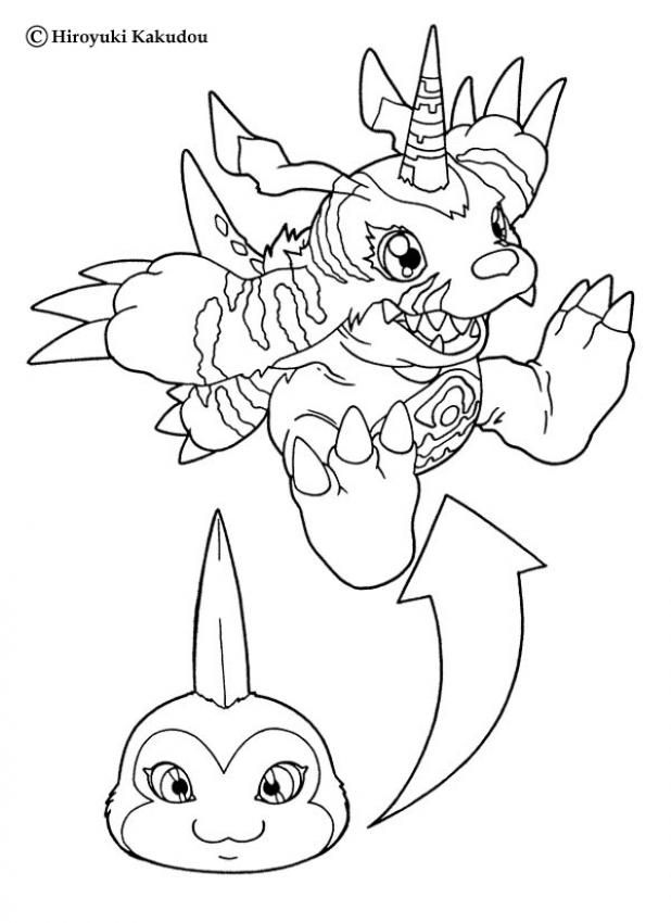 Digimon Coloring Pages Gabumon Coloring Sheet Digimon Coloring