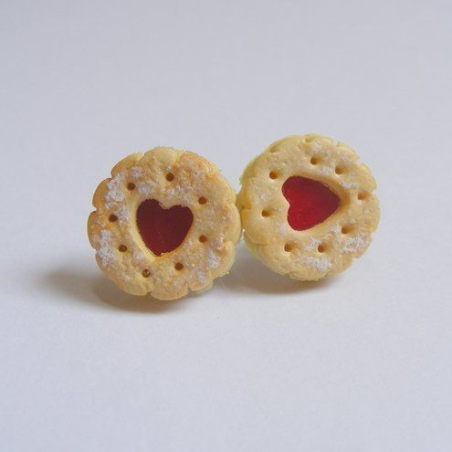 Jammy Dodger Earrings Miniature Food Jewellery Folksy