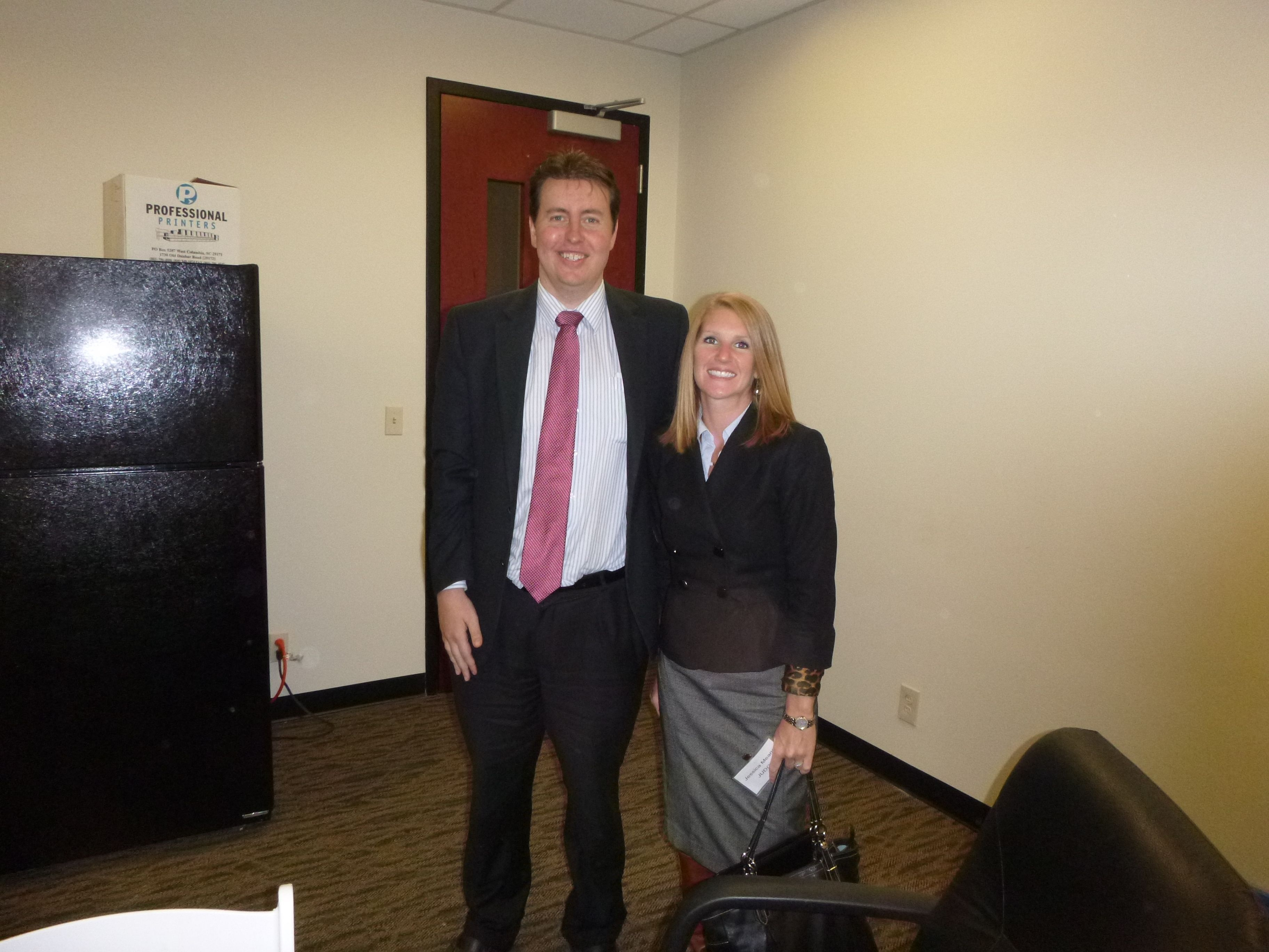 Attorney Evan Guthrie With Jessica Means Of Means Law Firm At The South Carolina Bar Middle School Mock Trial Lowcountry Regional Com New Law Law Firm Guthrie
