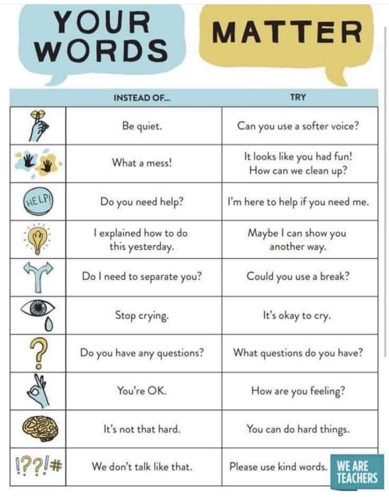 Your Words Matter
