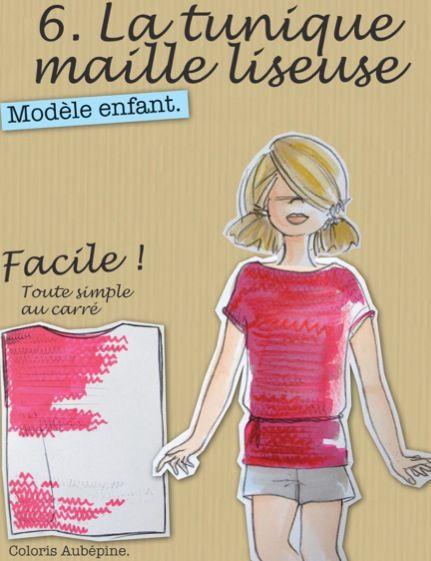 tunique enfant facile tuto tricot gratuit point liseuse tricot enfant pinterest tricot. Black Bedroom Furniture Sets. Home Design Ideas