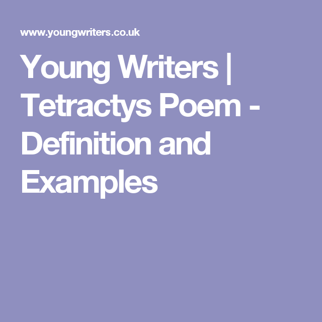 Young Writers Tetractys Poem Definition And Examples To Learn