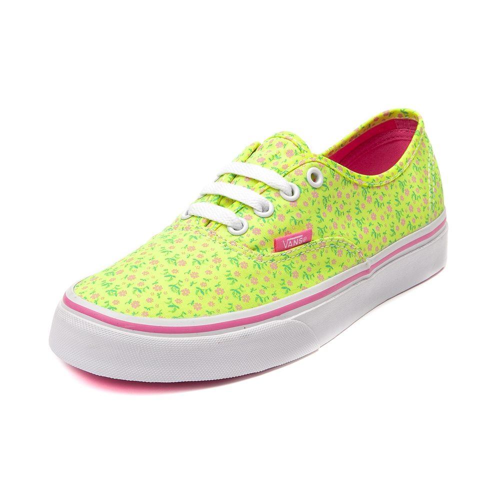 Vans Authentic Neon Floral Skate Shoe