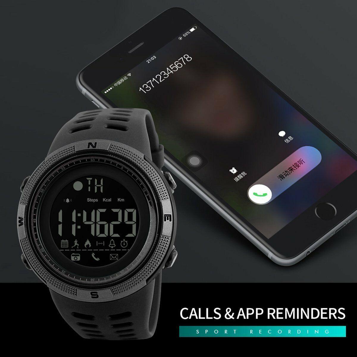 SKMEI Fashion Men's Smart Watch Bluetooth Digital Sports