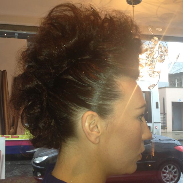 Glam mohawk by Amy Petale @ smiths hairdressing, Falkirk