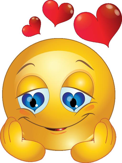 loving smiley-face eyes clipart